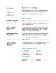Simple Resumes Templates Simple Resume Template Download Discreetly Modern Edward Hloomberg Free