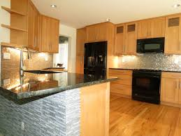 Small Kitchen Lighting Small Kitchen Design Kitchens Light Wood Cabinets Awesome Black