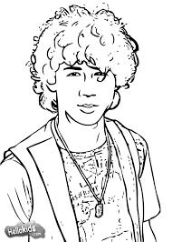 Nick Jonas Coloring Pages Coloringsuitecom