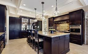 Charming 3D View Of The High End Kitchen Interior Design Photo Gallery