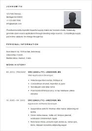Samples Of Simple Resumes. Basic Resume Template For App Developer