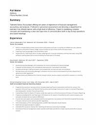 Free Senior Accounting Resume Template Sample Ms Word Cv Format