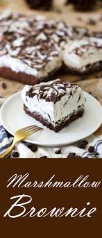 Light Fluffy Desserts Simple Marshmallow Brownie Is Light And Fluffy Dessert The