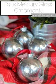 recreate the look of mercury glass ornaments for less with this faux mercury glass ornaments diy