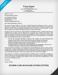 Nurse Case Manager Cover Letter Example
