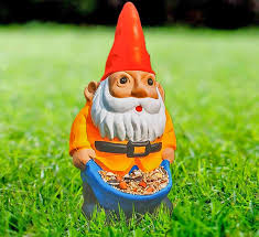 garden gnome. Brilliant Gnome The Nibble My Bits Bird Feeder Is A Garden Gnome That Essentially  Hast Stuffed His Pants With Seed In Hopes To Get Either  Inside Garden Gnome