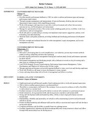 Customer Service Manager Resume Samples Velvet Jobs