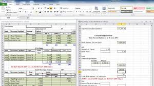 bank reconciliation form practice set bank reconciliation youtube