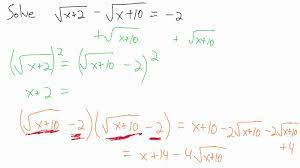 solve radical equations example 4 two radicals you maxresdefault watch v evhcyutnwfm