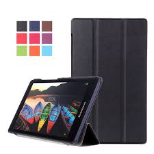 10 45 folding pu leather magnetic flip stand case cover for lenovo tab series tablet