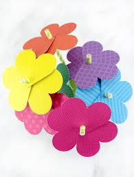 How To Make A Simple Paper Flower Bouquet How To Make Simple Paper Heart Flowers Fireflies And Mud Pies