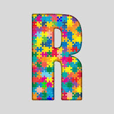 Creative Cover Letter Interesting Puzzle Jigsaw Letter R Jigsaw Made Of Colored Puzzle Piece