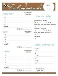 Weekly Food Diary Printable Pics Photos Free Journal For Diet