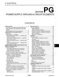 2004 nissan altima power supply, ground & circuit elements 2010 Nissan Altima Fuse Box Diagram 2004 nissan altima power supply, ground & circuit elements (section pg) (74 pages) 2010 nissan altima interior fuse box diagram