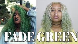 how to fade green hair dye or other