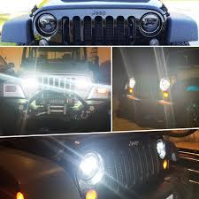 Lx Light 7 Lx Light 7 Round Black Cree Led Headlight High Low Beam