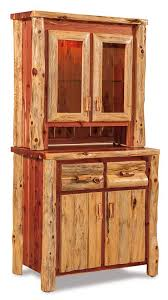 log rustic furniture amish. Amish Rustic Cedar Log Furniture Kitchen Hutch