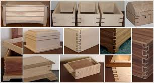 Decorative Wood Boxes With Lids Contrasting Wood Joints Handcrafted Wood Boxes 41