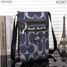 Coach Legacy Swingpack In Signature Large Blue Crossbody Bags 10008