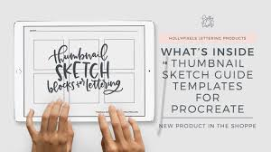 Lettering Templates Thumbnail Sketch Guide Templates For Procreate Lettering By Holly Pixels