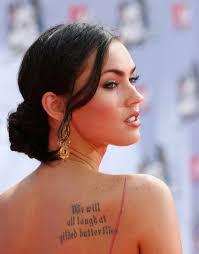 Tattoos Women Megan Fox Actress People Celebrity Tattoo Love