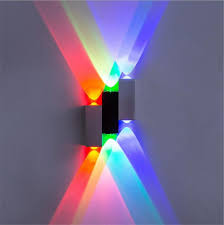 Multicolor Wall Light Modern Aluminum 6w Up Down Led Wall Lights Wall Lamp Wall