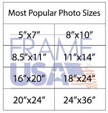 Easel Clothing Size Chart Standard Photo Sizes Sizing Your Photo Frames And Art
