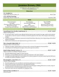 Medical Assisting Extern Resume Template