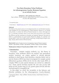 pdf two basic boundary value problems for the ingeneous cauchy riemann equation in an infinite sector