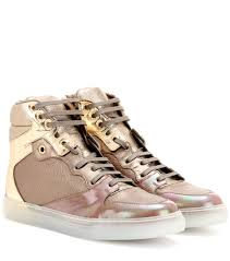 balenciaga leather high top sneakers beige gold neutrals women shorten balenciaga strap balenciaga