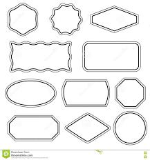 Simple frame design Flourish Collection Of Simple Vector Frames Dreamstimecom Simple Frames Set Stock Vector Illustration Of Design 78057191