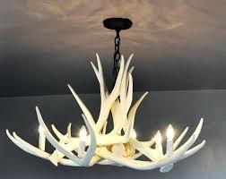 amazing white antler chandelier modern