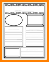 Extra Extra Newspaper Template Free Printable Newspaper Template Magdalene Project Org