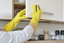 how to clean sticky grease off kitchen