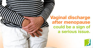 Menopausal woman now producing vaginal mucus