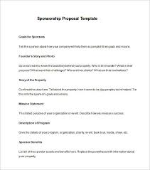Proposal For Sponsorship Templ