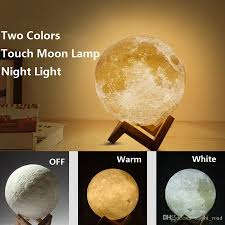 2018 3d moon lamp led night magical moon light moonlight desk lamp usb rechargeable 15cm 3d light stepless for home decoration lights from