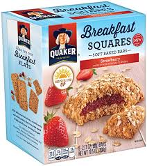 amazon quaker breakfast squares soft baked bars variety pack 4 count