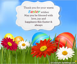Thank You Easter Thank You For Your Warm Wishes Easter Thank You Cards