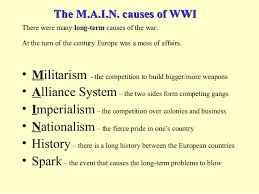 of ww essay causes of ww1 essay