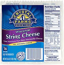 string cheese calories calories sargento