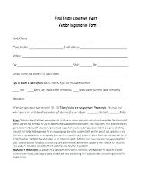 Sample Vendor Registration Form 8 Documents In Word Free Templates