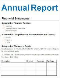 financial report template word sample financial reports resume template sample