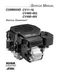 kohler command 16hp vertical shaft engine service manual engines