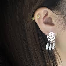 Gorgeous Tale <b>10pairs</b> Silver Open Teardrop Stud Earrings For ...