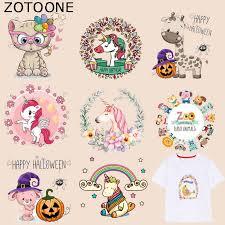 <b>ZOTOONE</b> Animal <b>Unicorn</b> Patch Cute Cat Stickers Iron on Patches ...