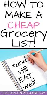 Budget Lists Examples Create A Cheap Grocery List Heres How With Examples