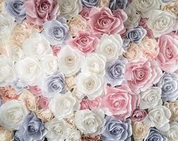 Paper Flower Background Flower Wall Wedding Etsy