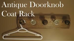build a coat rack with old door s