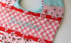 Patchwork Baby Bibs for Josephine - The Cottage Mama & Patchwork Quilted Baby Bib Pattern. www.thecottagemama.com Adamdwight.com